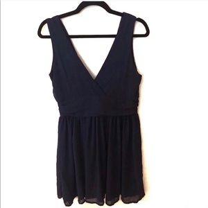 Charlotte Russe / Navy Blue Ruffle Dress